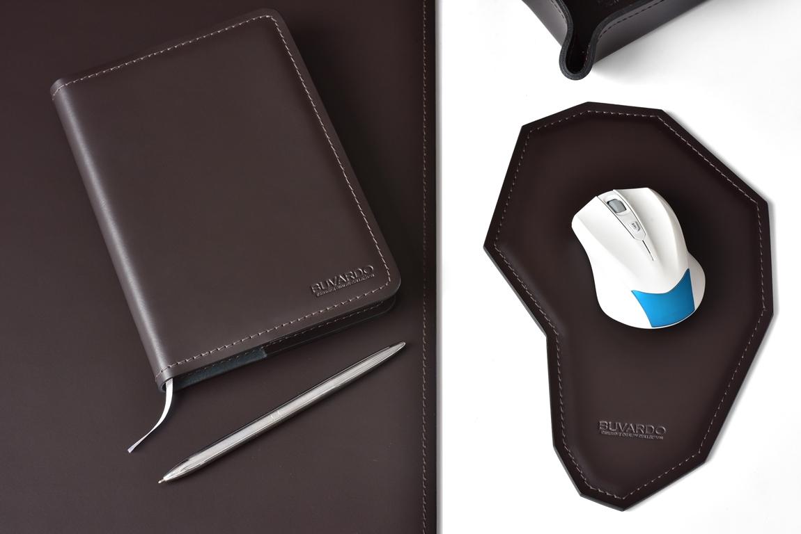 канцелярский набор для рабочего стола из кожи