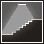 Аварийные светильники устанавливаются на лестницах