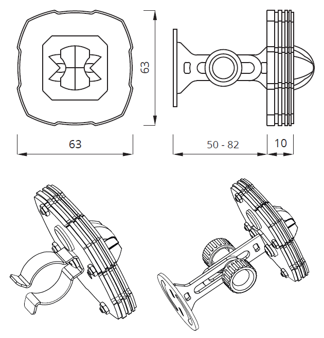 Размер аварийного LED-светильника SPY