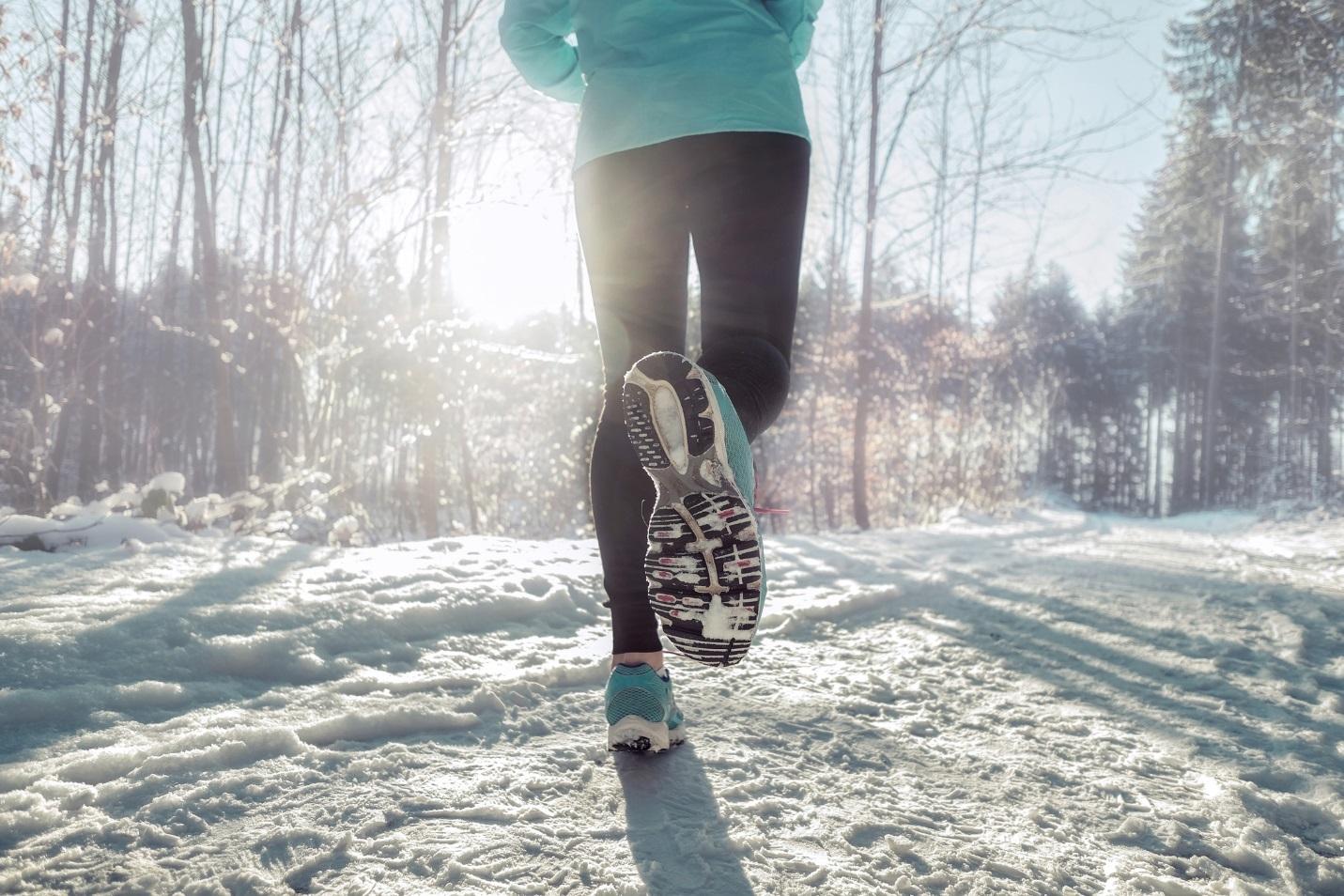 На фото – пробежка зимой