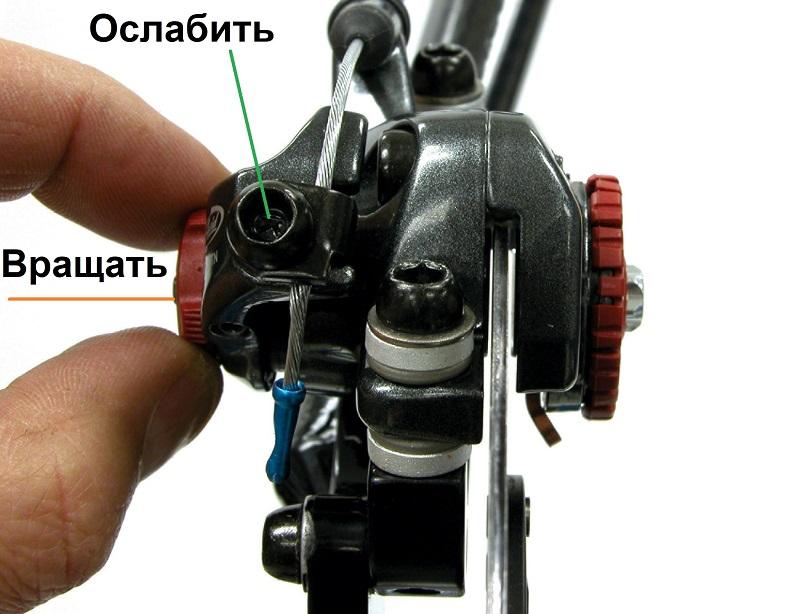 Регулировка колодки avid bb7