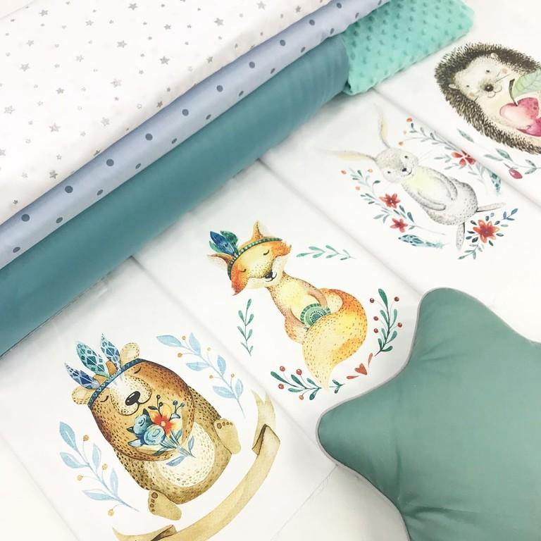 Ткани для бортиков в детскую кроватку