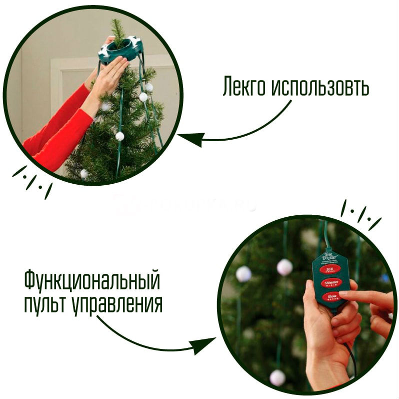 Конусная Гирлянда Tree Dazzler -  на новогоднюю елку