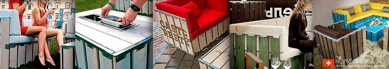 Практичная уличная мебель bxl из натурального дерева для открытых и закрытых пространств