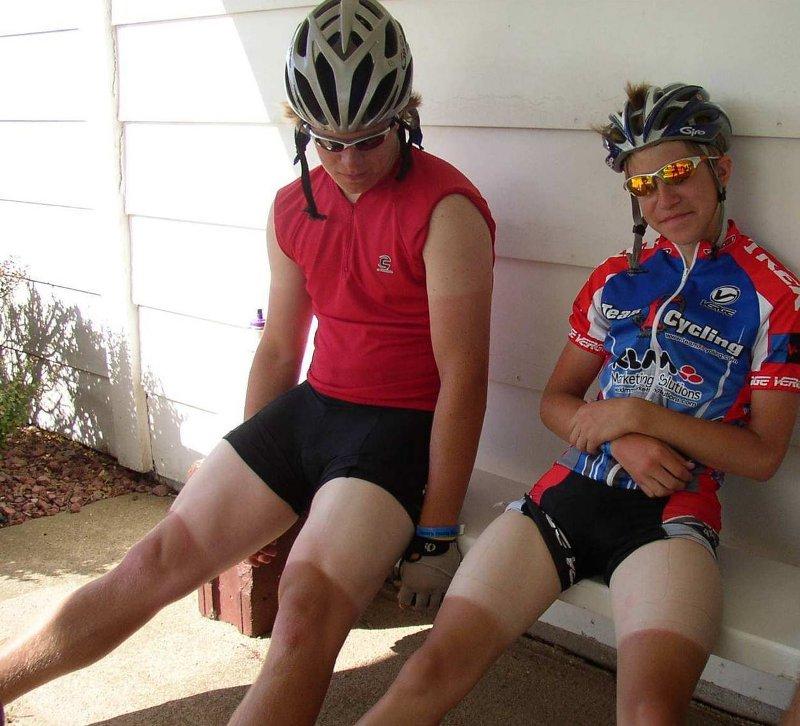 велосипедисты с велозагаром