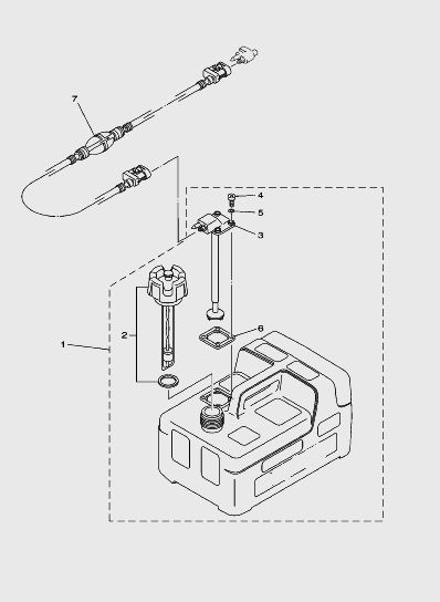 Запчасти внешнего топливный бака для лодочного мотора T5 SEA-PRO