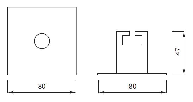 Размер встраиваемого эвакуационного светильника EYE LED Square