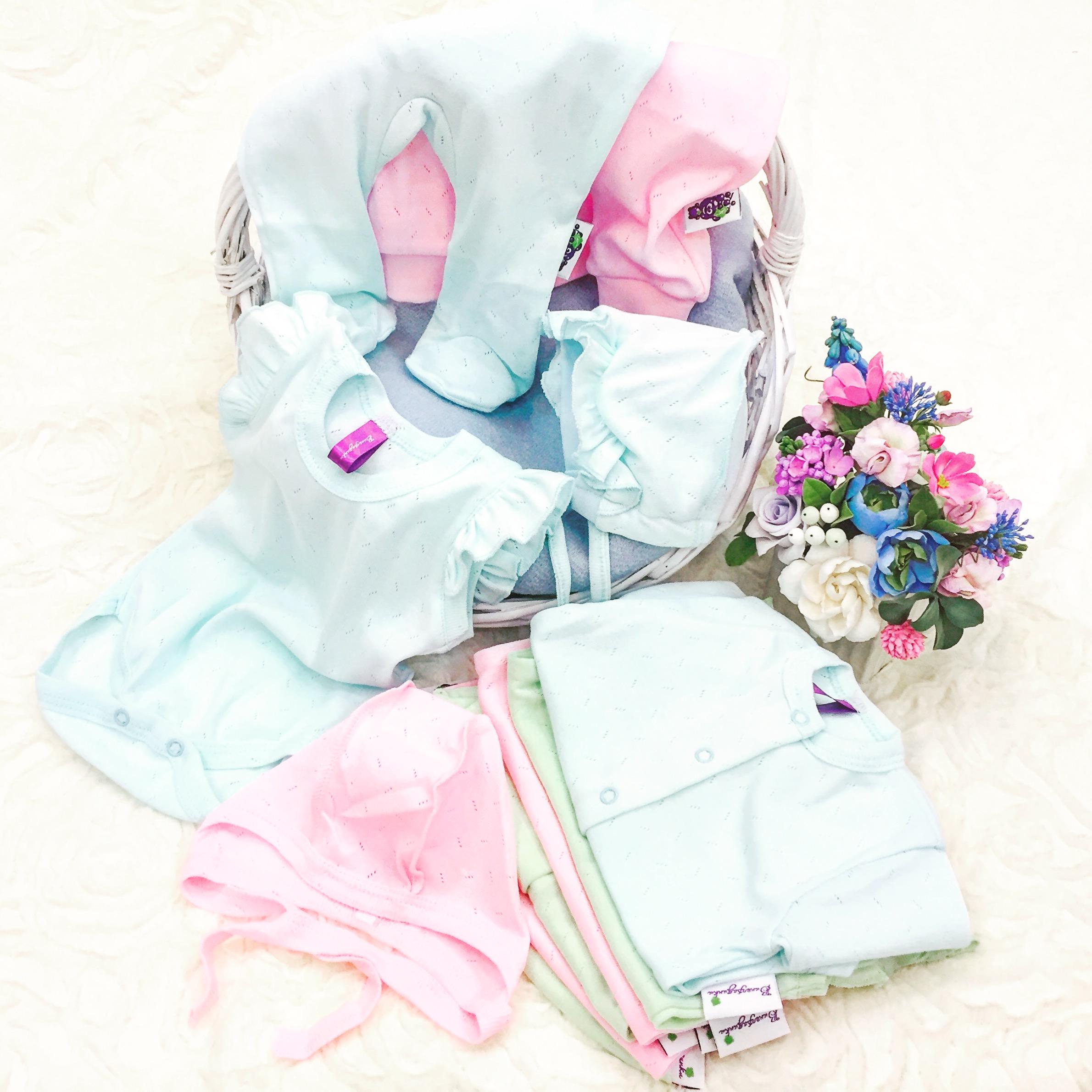"""Одежда для новорожденных бренда """"Виноградинки"""""""