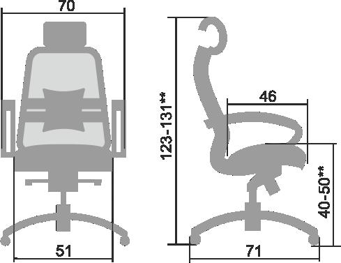 Размеры кресла Samurai SL 2.03
