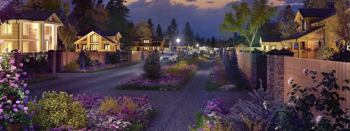 Уличное освещение «Романовского Парка»