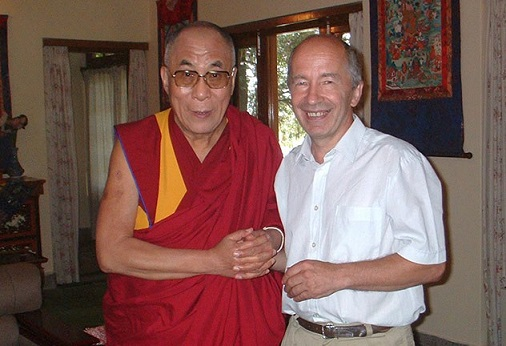 Буддолог Андрей Терентьев и Далай-лама 14