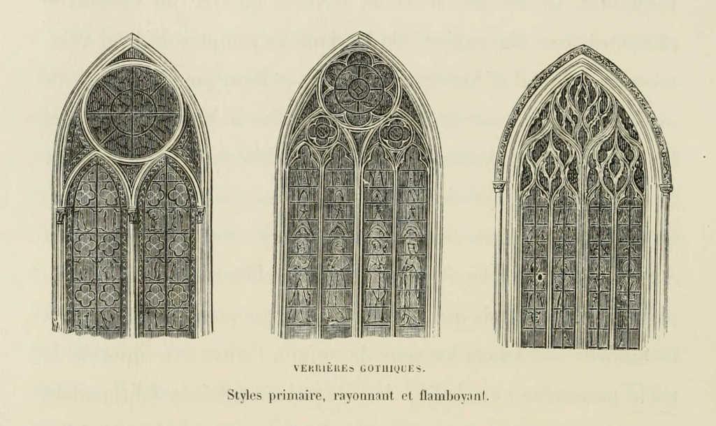 Окна в а разных готических стилях.