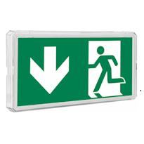 EXIT M Эвакуационный указатель IP65 для больниц