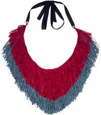 этническое колье из ткани Papiroga фото