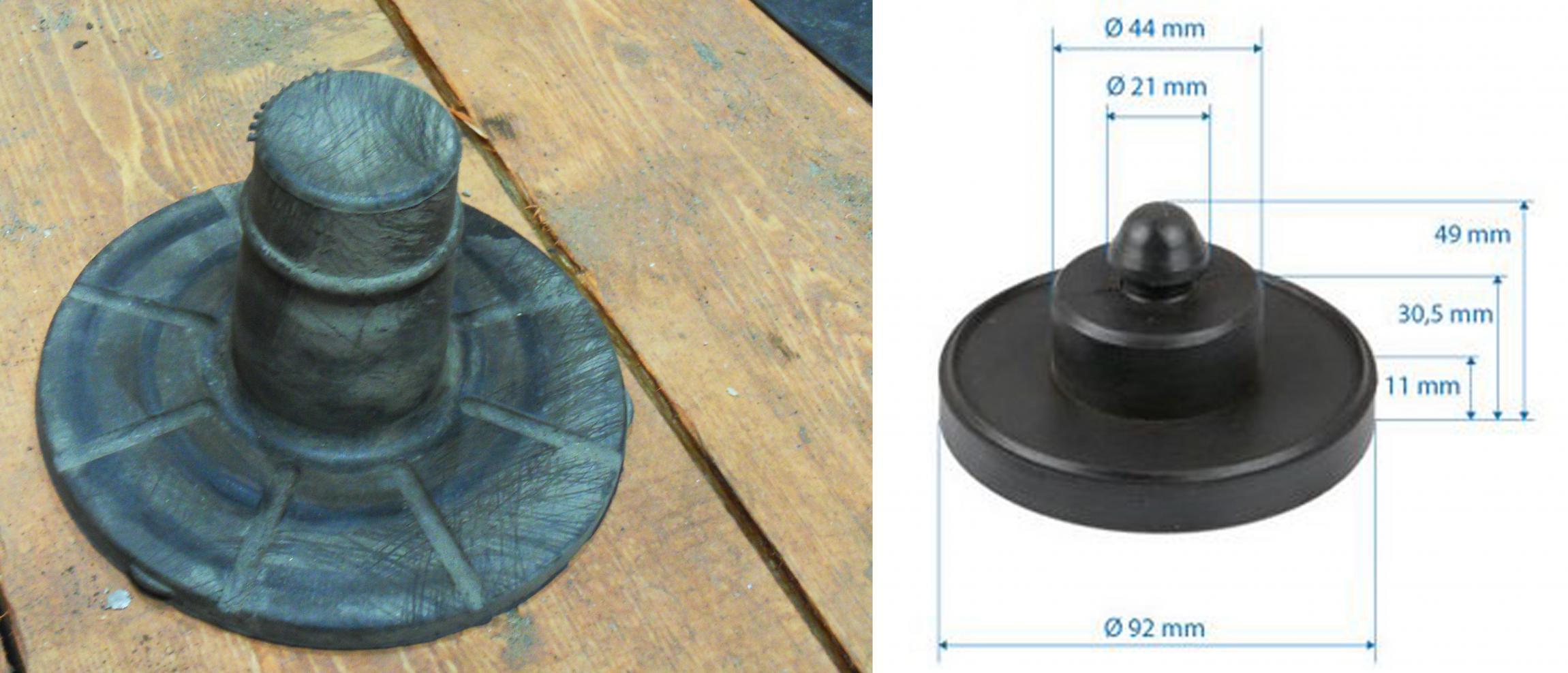 верхний отбойник (бампер, резиновый, рессора к задней оси, верхний