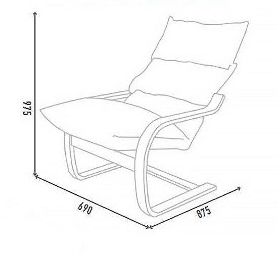 """Размеры """"Кресло-трансформер для отдыха Онега"""""""