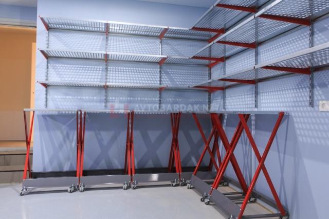 Полки из оцинкованной стали для гаража