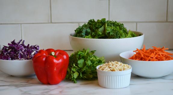 Нарезаные овощи