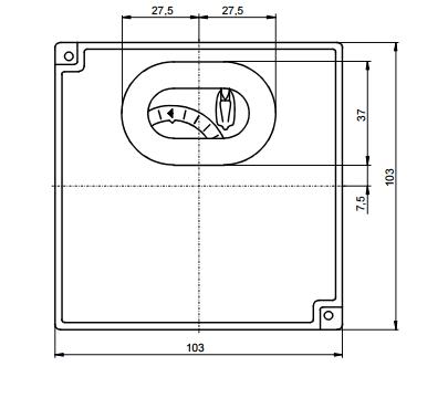 Размеры автомата горения Siemens LDU11.523A27