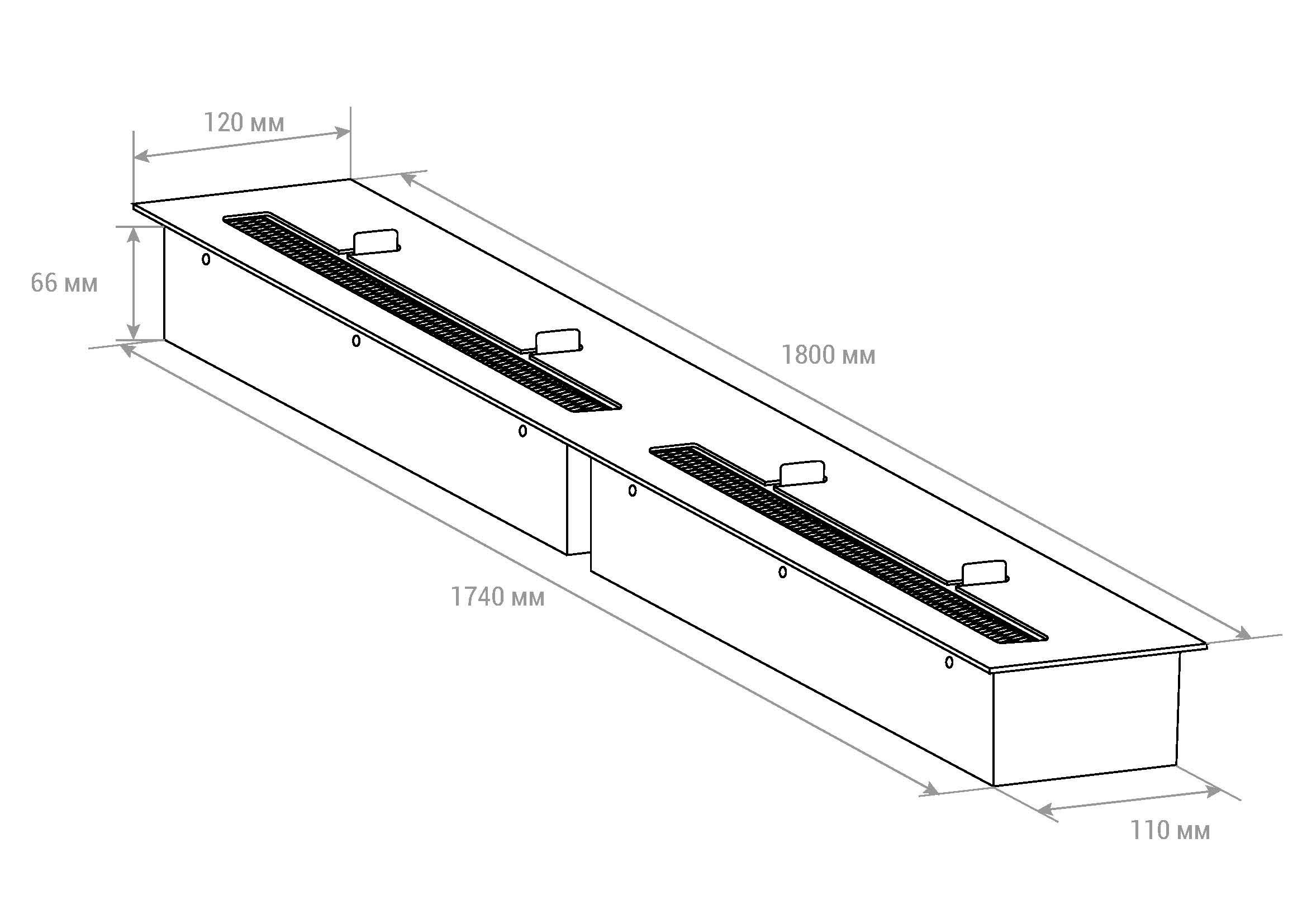 Топливный блок Lux Fire 1800 M чертеж схема
