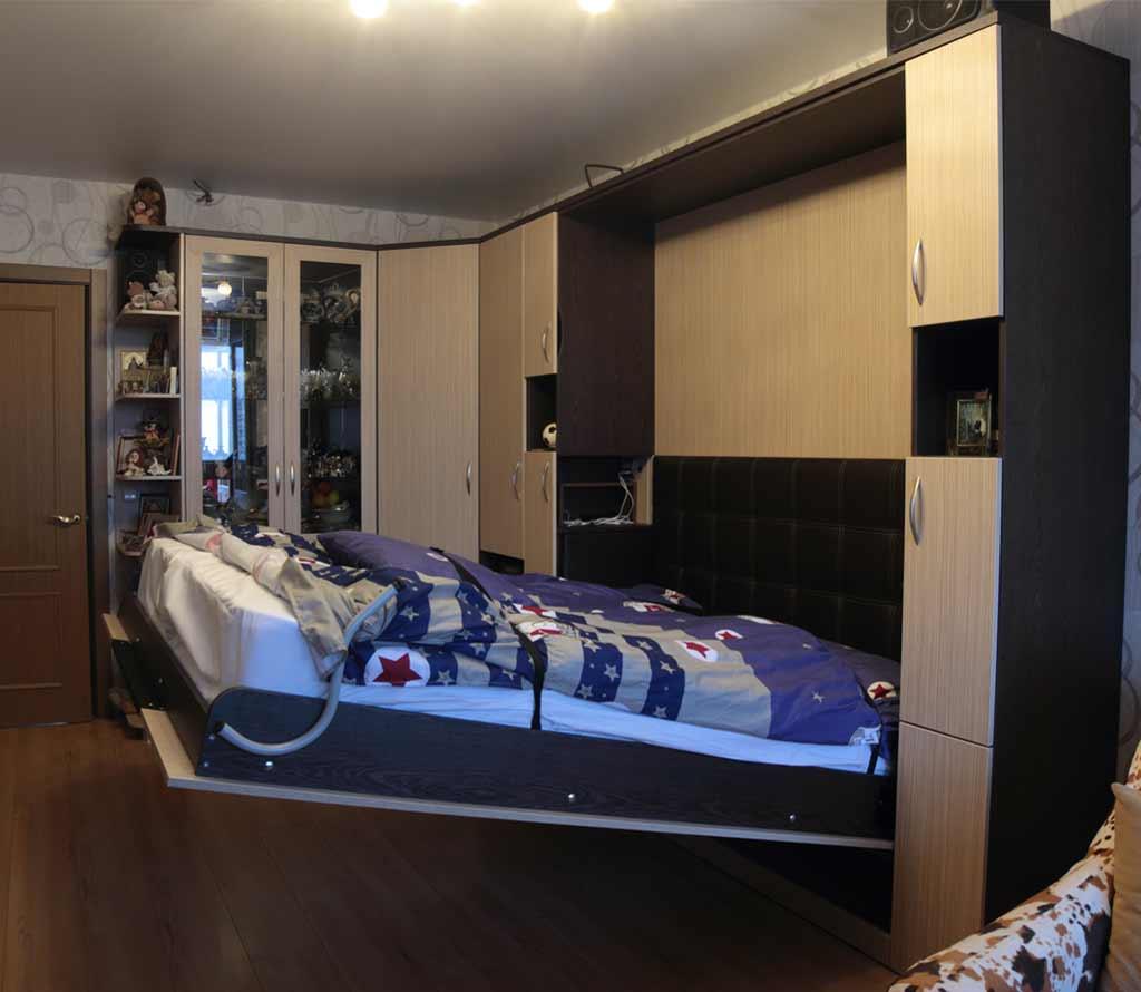 Шкаф-кровать трансформер Глория