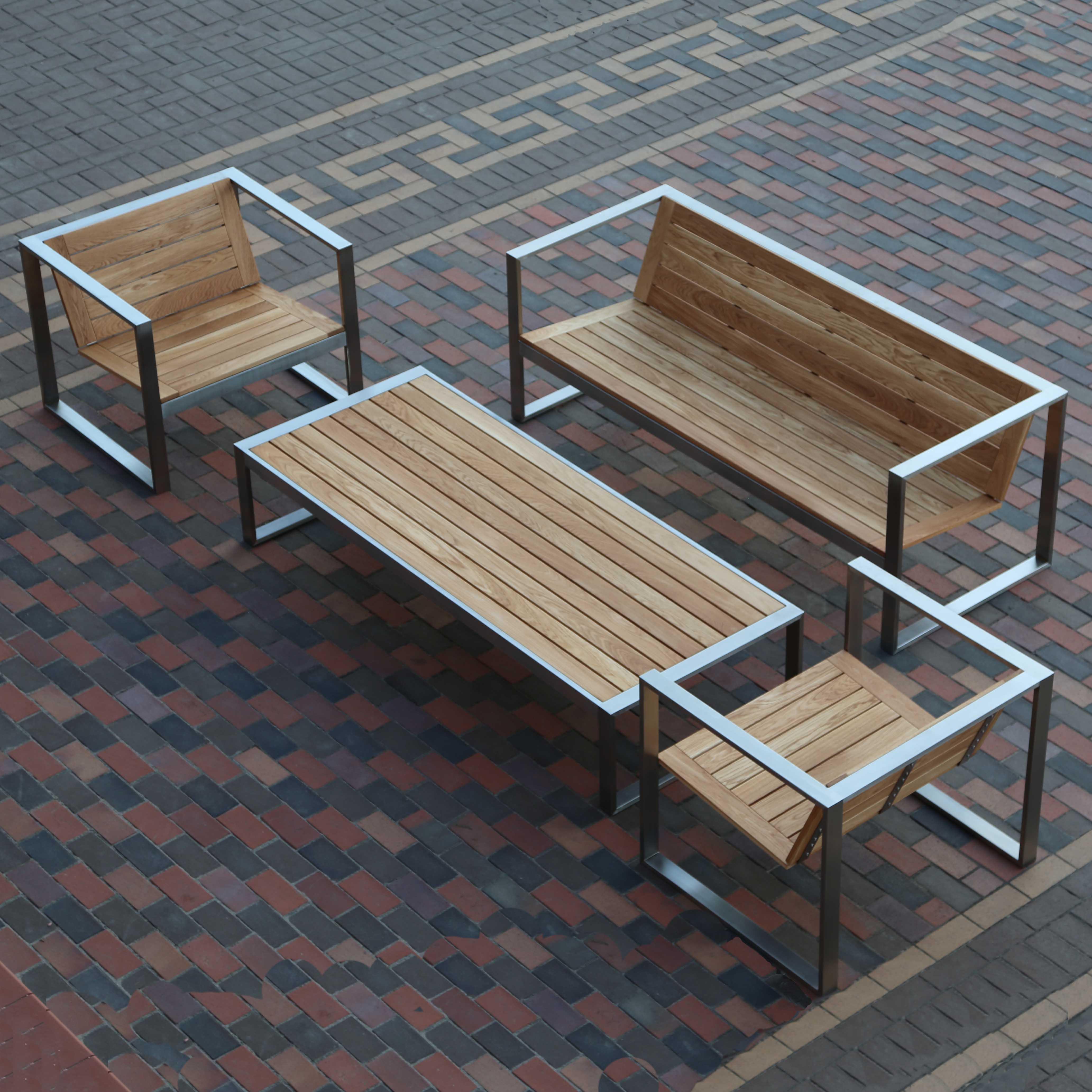 садовая мебель из дерева и металла TRIF-MEBEL
