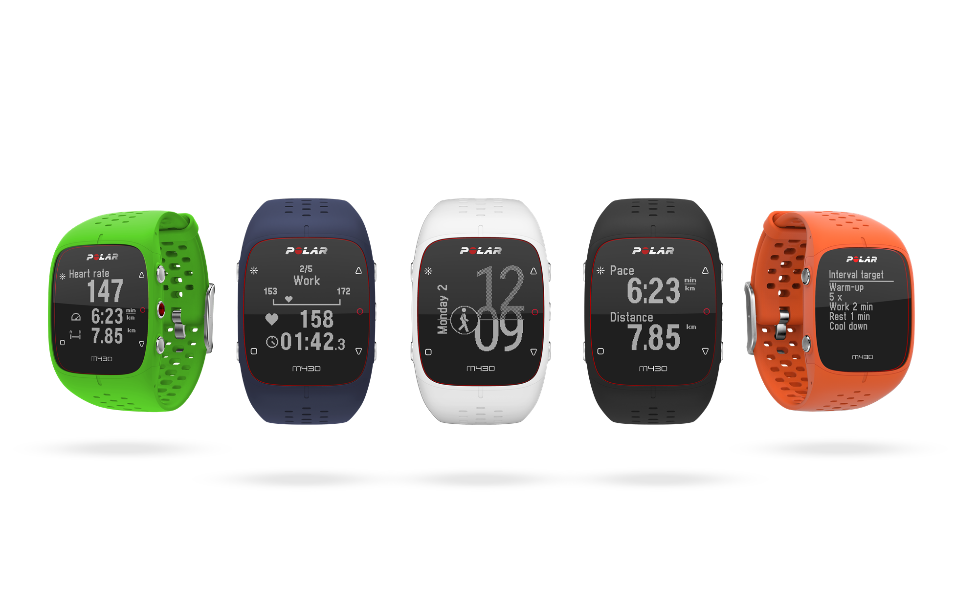 Polar M430 all colors