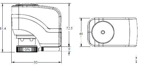 Размеры привода Siemens SSB8100