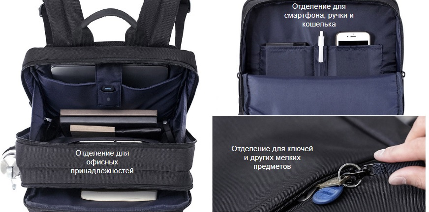 Бизнес рюкзак Xiaomi Classic Business Backpack  (черный)