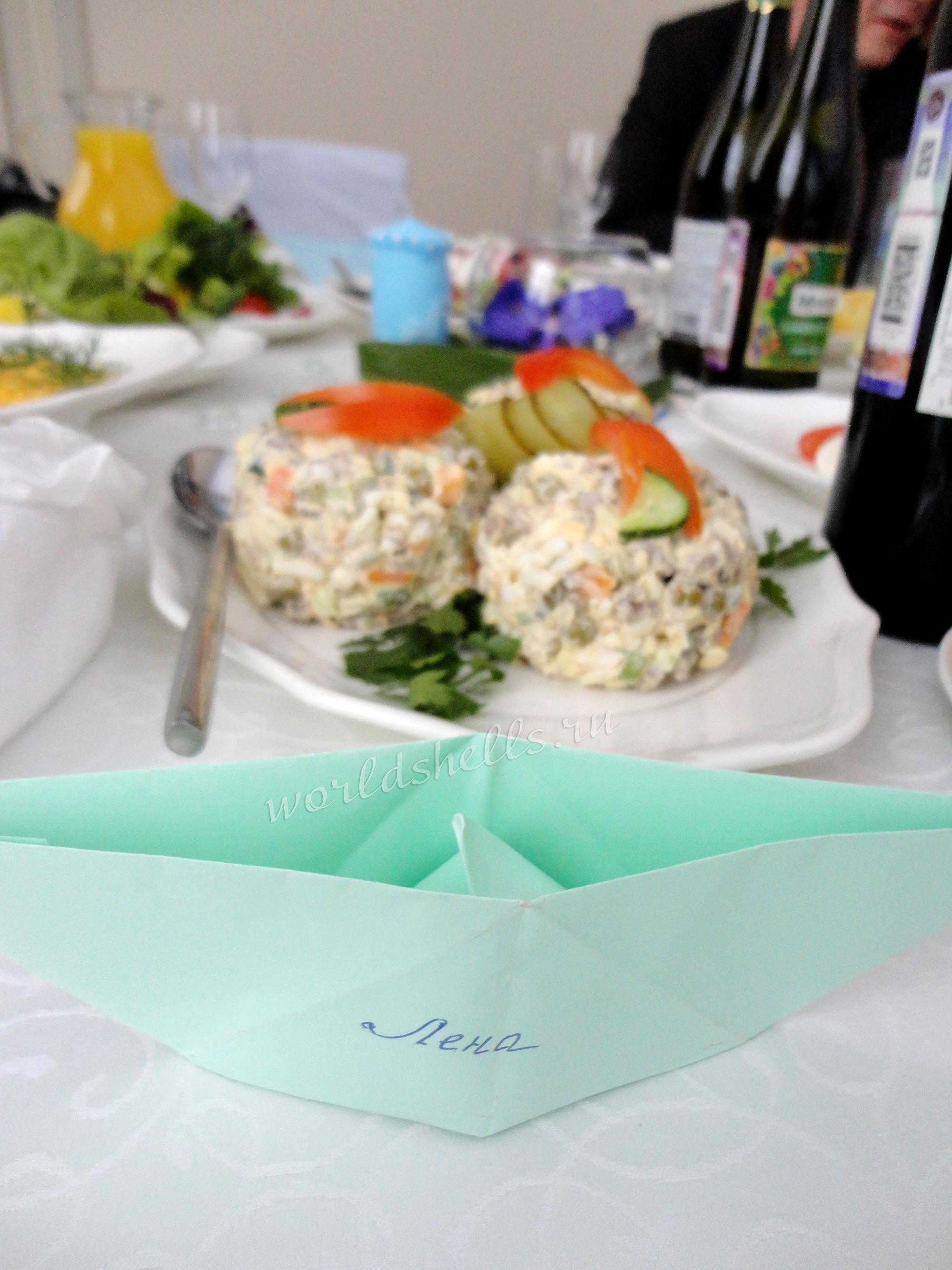 Бомбоньерка в морском стиле на стол гостей