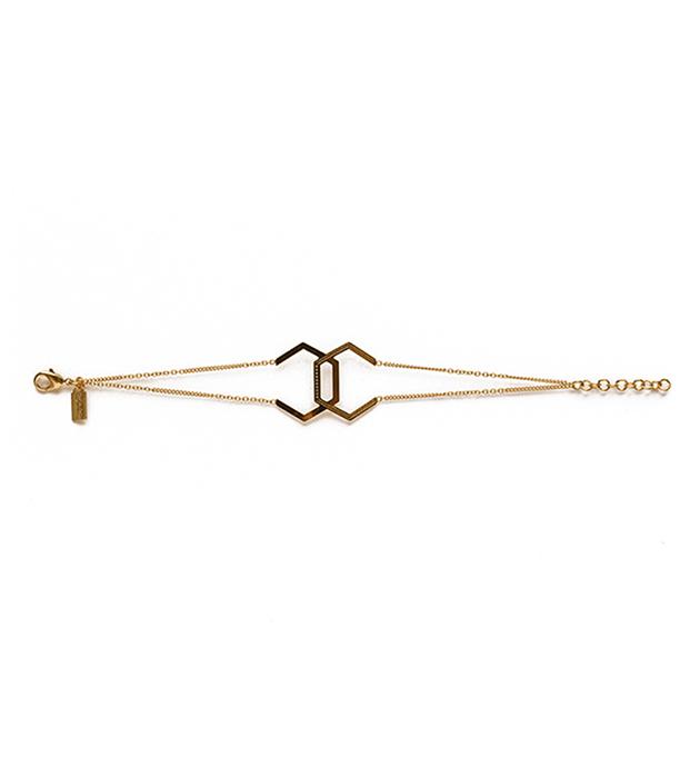 купите качественная французскaя бижутерия от Chic Alors Paris - Bracelet Hexagone double