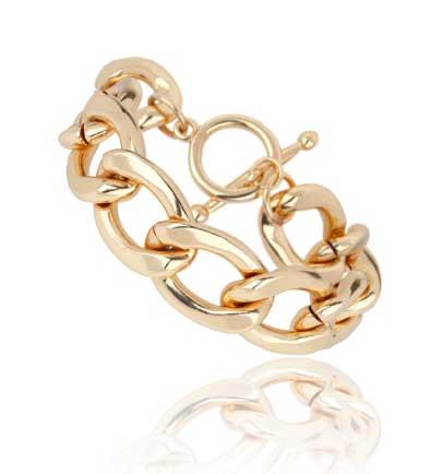 купить браслет женский цепь под золото фото
