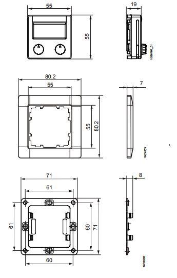 Размеры Siemens QAX95.4