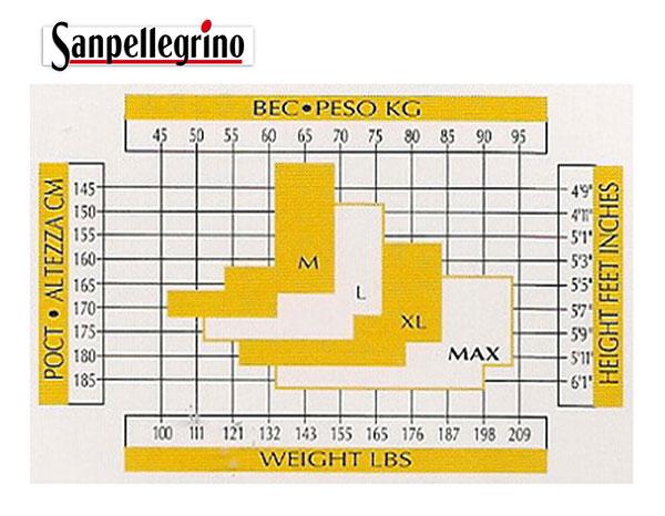 Таблица размеров колготок Sanpellegrino