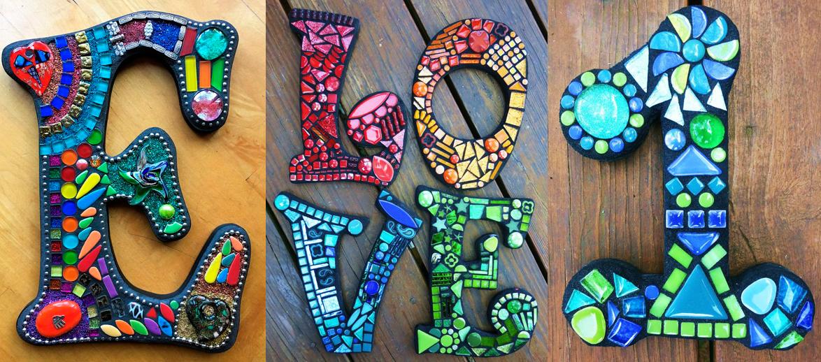 Буквы в мозаике