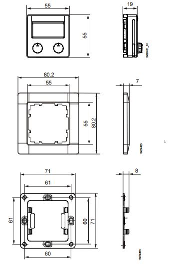Размеры Siemens QAX98.4