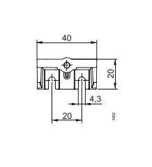 Размеры монтажного кронштейна для QBE2x03...SIEMENS_AQB2004