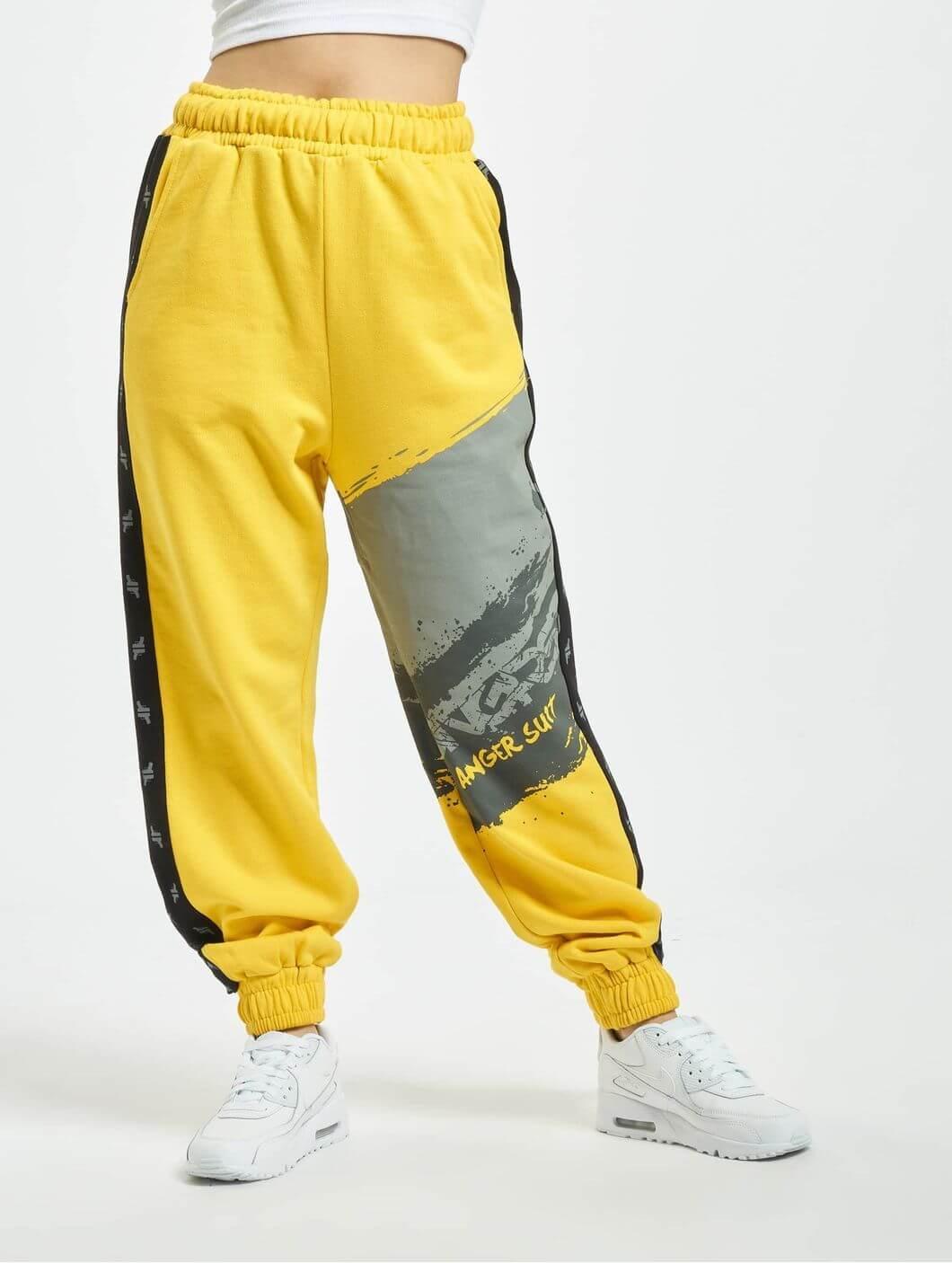 Купить желтый костюм женский спортивный теплый с получением в Москве