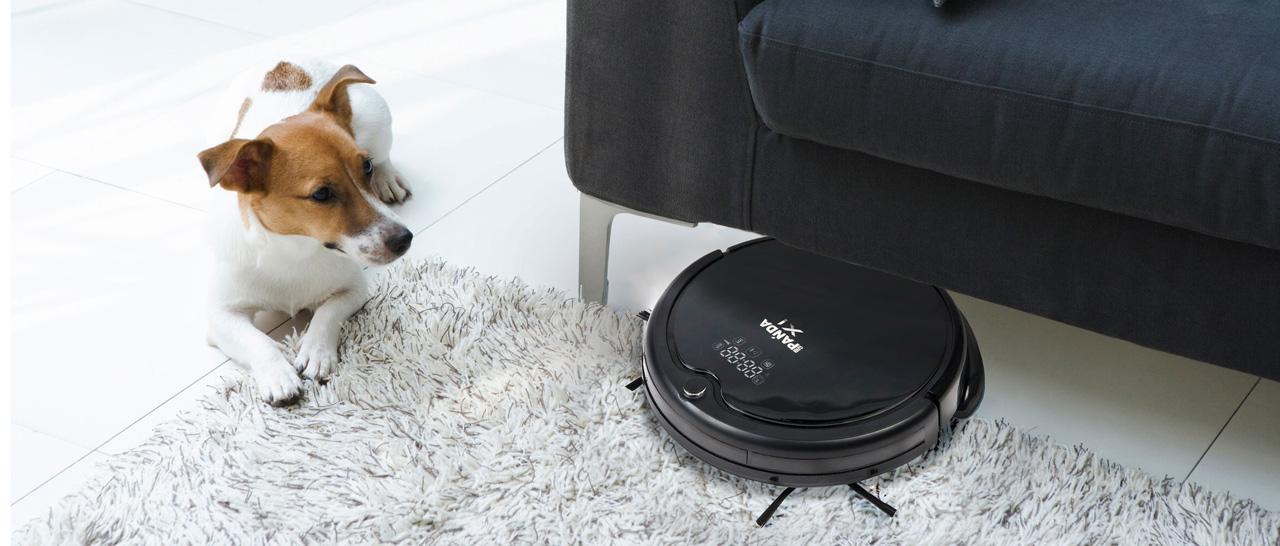 Роботы-пылесосы cleverPanda для владельцев домашних животных