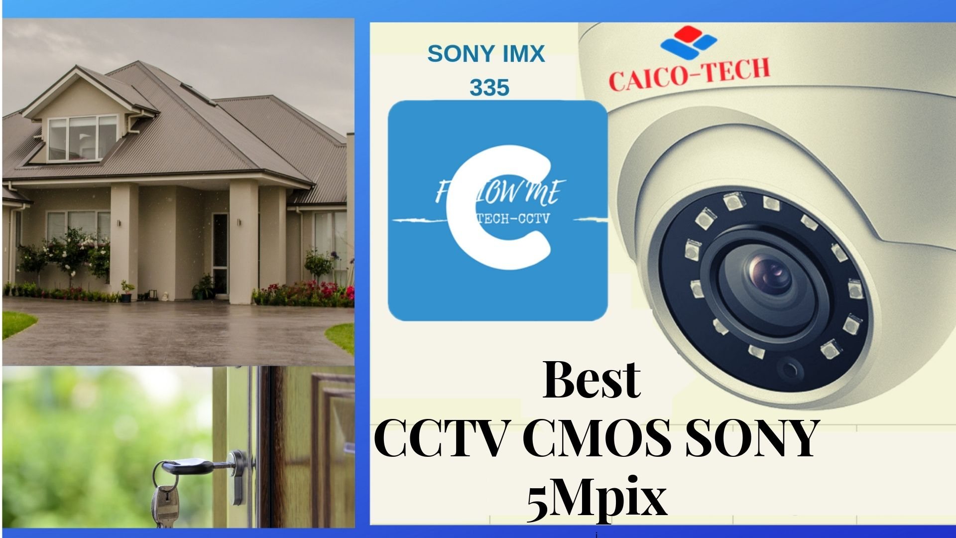 CAICO TECH CCTV DOME CAMERA AHD 5 Mpix CMOS SONY IMX 335