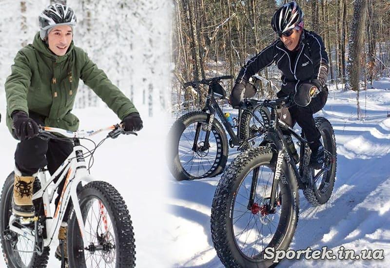 В перчатках или варежках на велосипеде