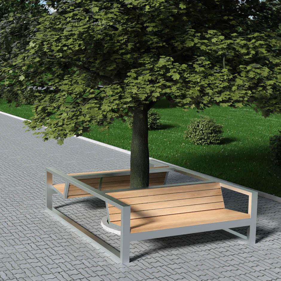 Садово-парковая мебель из металла и дерева