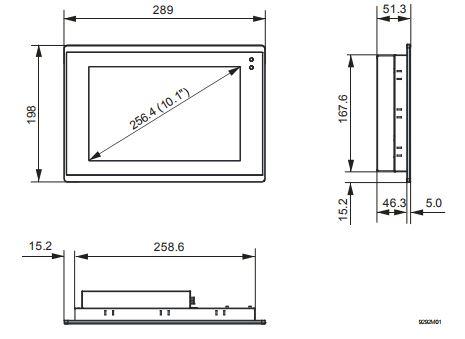 Размеры Siemens PXM40
