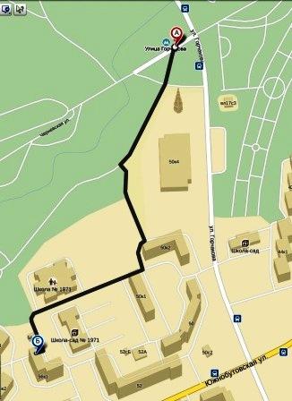 Карта-схема прохода до Пункта Самовывоза №1
