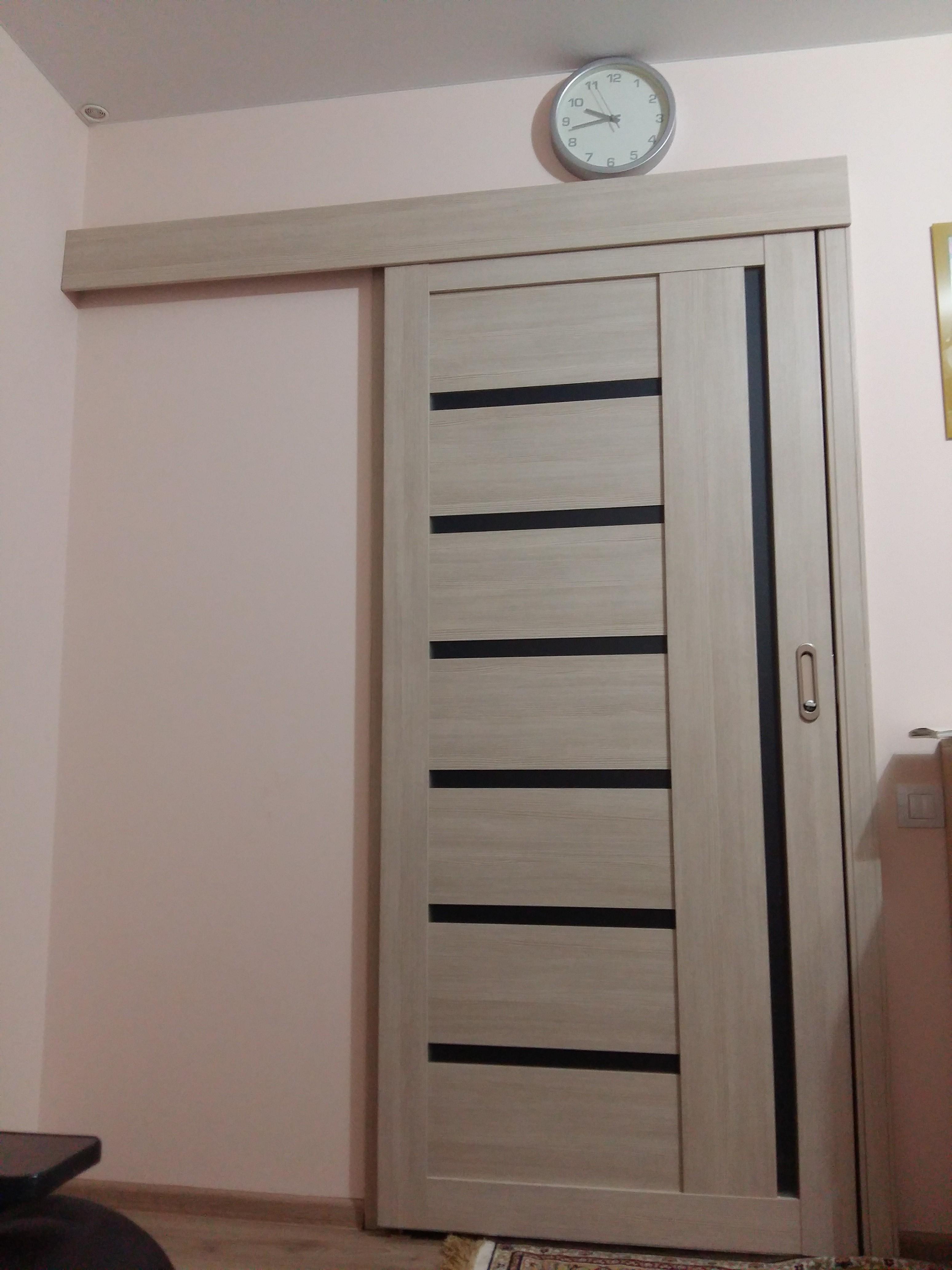 Дверь Фрегат ALBERO Мадрид, стекло матовое, цвет лиственница мокко, остекленная