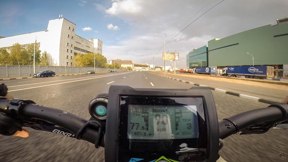 Скорость 90 км/ч на электровелосипеде с мотор-колесом MXUS3000