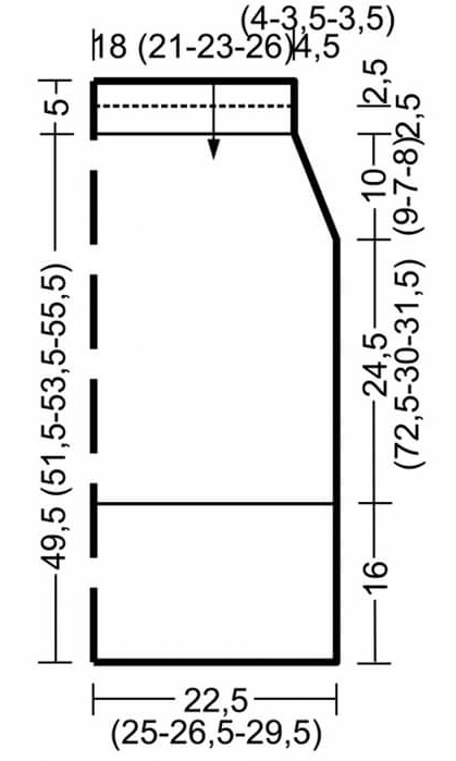 Выкройка для вязания юбки женского костюма