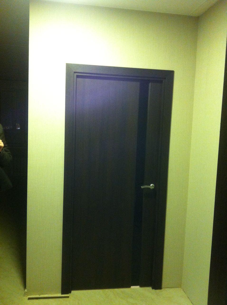 Дверь Ладора 3/1, цвет африканский орех, остекленная