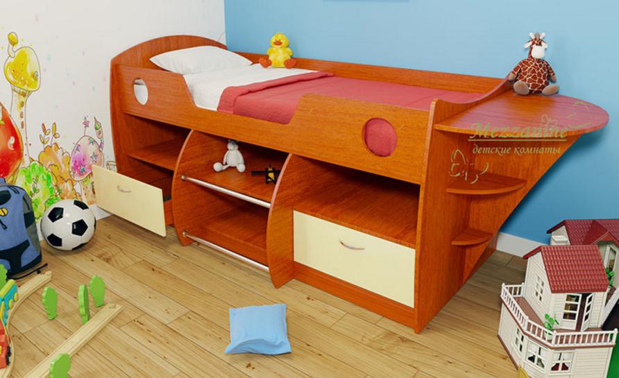 кровать-чердак в виде корабля