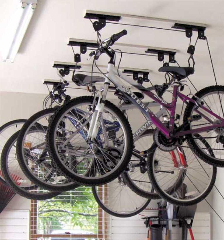 подъемный механизм для хранения велосипедов